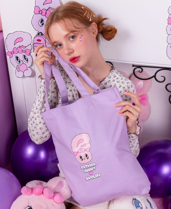 ★NEW COLLABORATION★デイライフ♥エスダバニー LETTERING ECO BAG(PURPLE)