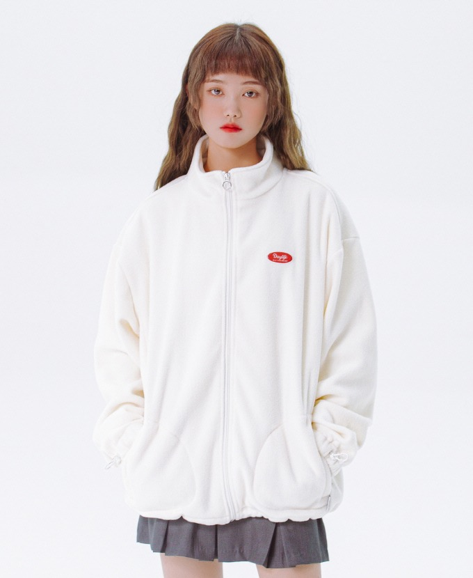 [20FW NEW]DAYLIFE FLEECE HIGH NECK ZIP-UP (WHITE)