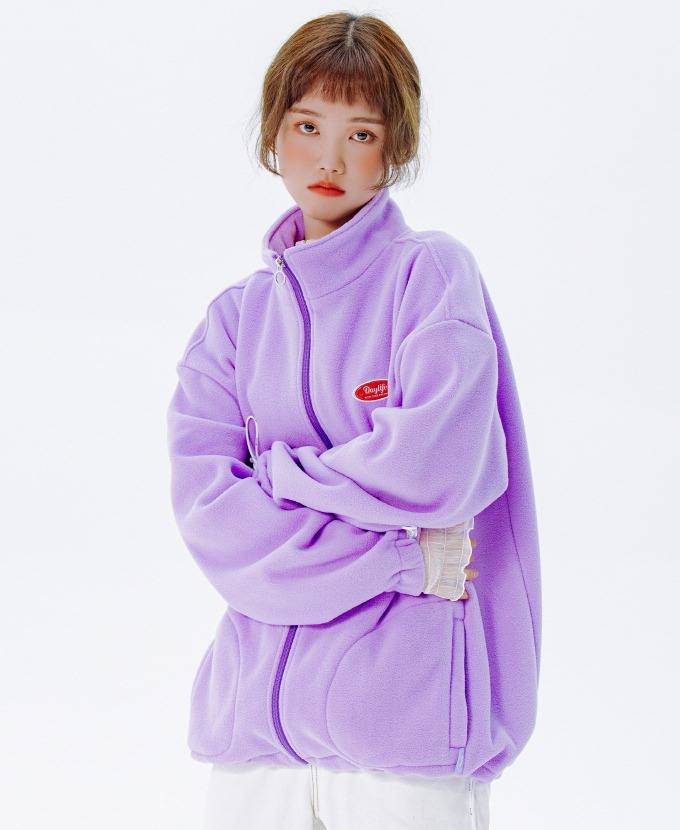 [20FW NEW]DAYLIFE FLEECE HIGH NECK ZIP-UP (PURPLE)
