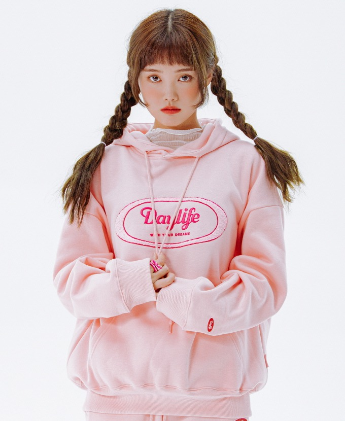 [20FW NEW]DAYLIFE LOGO HOODIE (PINK)