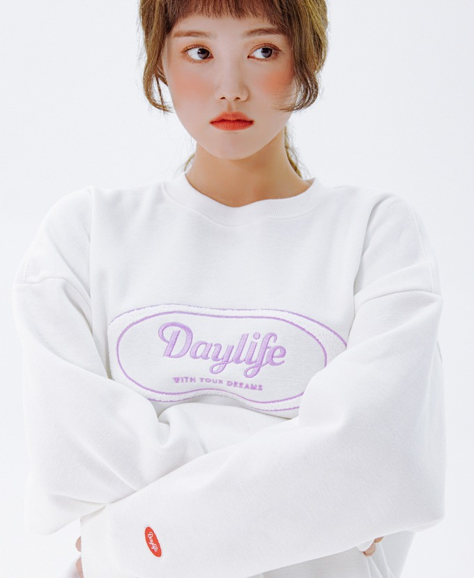 DAYLIFE LOGO SWEAT SHIRTS (WHITE)