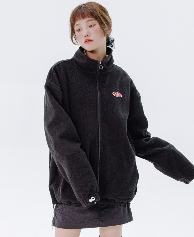 [20FW NEW]DAYLIFE FLEECE HIGH NECK ZIP-UP (BLACK)