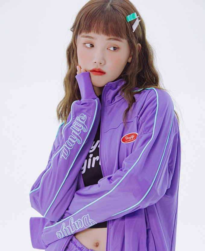 DAYLIFE LOGO TRACK JACKET (PURPLE)