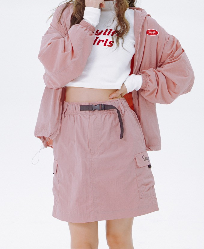 [20FW NEW]DAYLIFE REFLECTIVE BELT SKIRT (PINK)