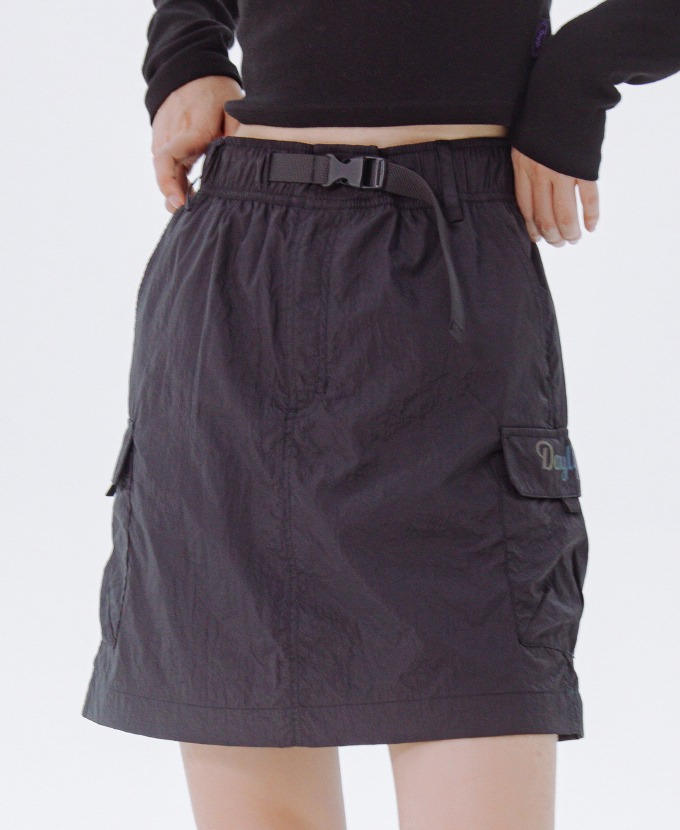 [20FW NEW]DAYLIFE REFLECTIVE BELT SKIRT (BLACK)