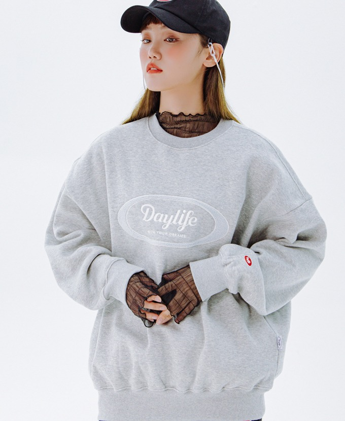 DAYLIFE LOGO SWEAT SHIRTS (GRAY)