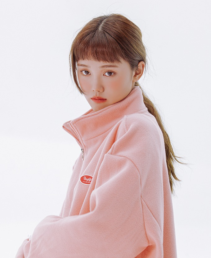 [20FW NEW]DAYLIFE FLEECE HIGH NECK ZIP-UP (PINK)