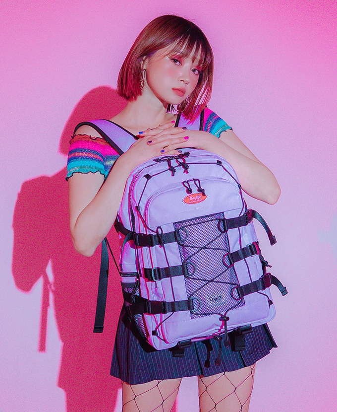 2021新規リュック発売DAYLIFE DOUBLE STRING BACKPACK (PURPLE)