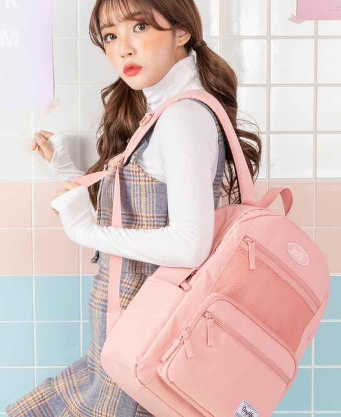 DAYLIFE LAYER BACKPACK(ALL PINK)