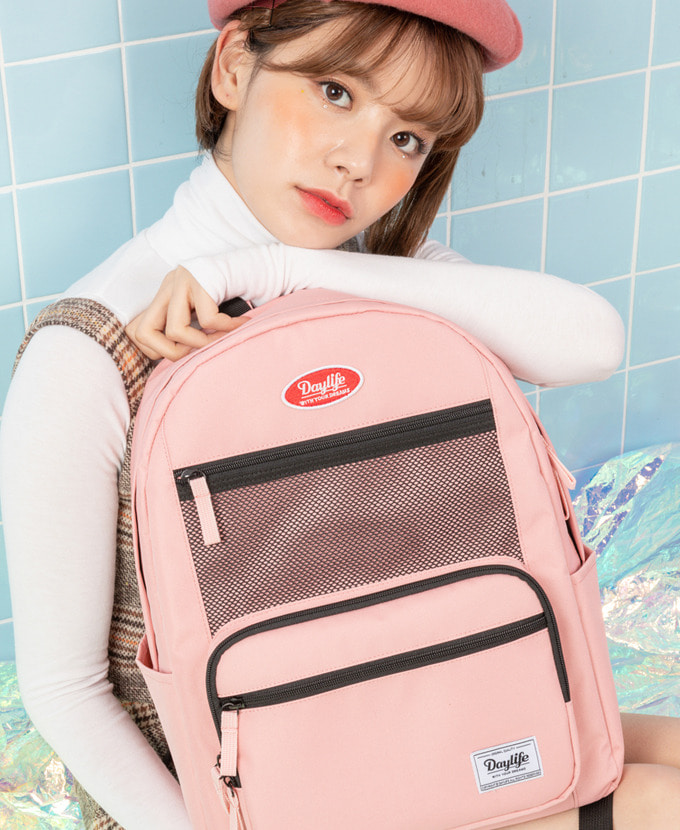 DAYLIFE LAYER BACKPACK (PINK)