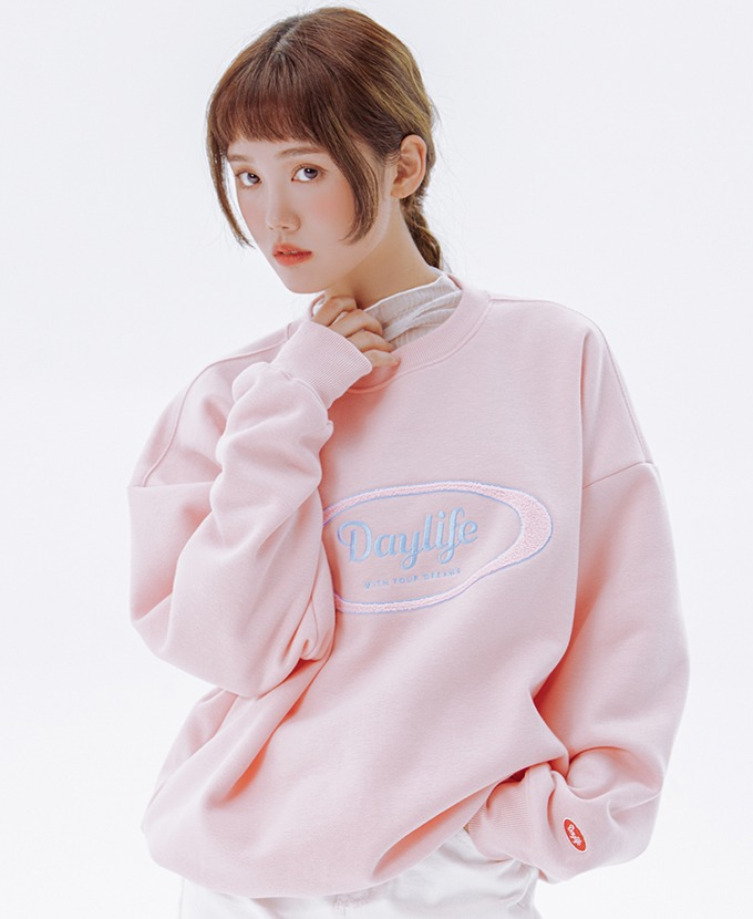 DAYLIFE LOGO SWEAT SHIRTS (PINK)